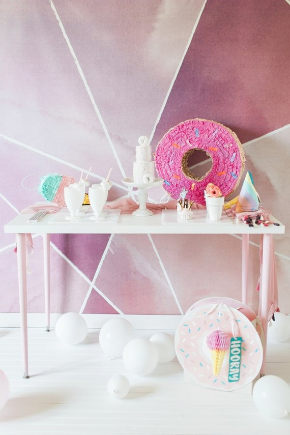 Donut birthday party | Best Birthday Ideas of 2017 on 100 Layer Cakelet