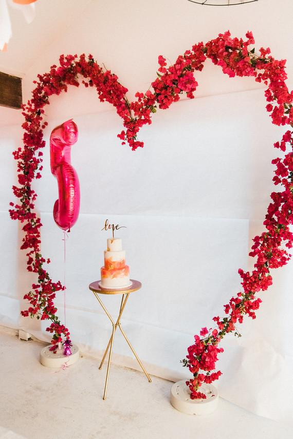 Bougainvillea-Inspired LOVE themed birthday party   Best Birthday Ideas of 2017 on 100 Layer Cakelet