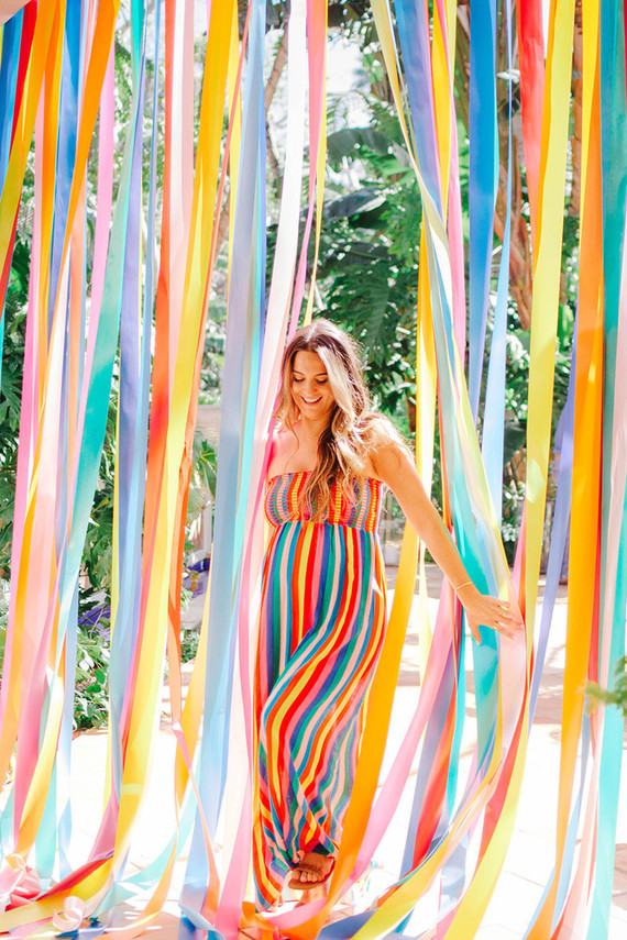 Rainbow baby shower for Cammy of Show Me Your Mumu