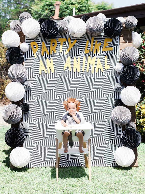 Party Like an Animal first birthday party