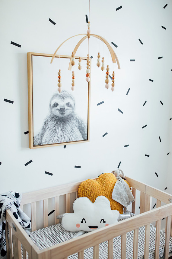 A teensy tiny modern nursery in 52 sq ft + small space nursery tips