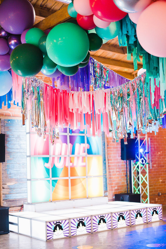 Ultra colorful, modern Bat Mitzvah