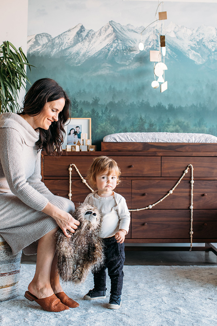 Sophisticated modern neutral nursery with Crate and Kids on 100 Layer Cakelet